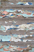 Textured background of old boards with peeled paint — Stock Photo