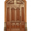 Beautiful carved wooden mahogany door — Stock Photo #42511581