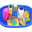 Assortment of means for cleaning — Stock Photo