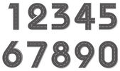 Vettore cifre sotto forma di una strada — Vettoriale Stock