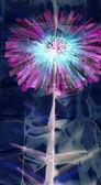 Peinture à l'aquarelle. abstrait fleur pourpre — Photo