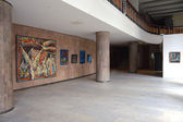 Home artists art gallery in Kiev, Ukraine — Stock Photo