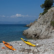 Sea kayaks — Stock Photo