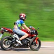 Sport bike on the road — Stock Photo