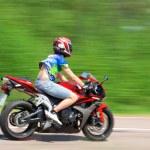 Sport bike on the road — Stock Photo #12218493