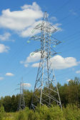 Supports power lines — Stock Photo