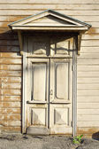 The front door of the old house — Stock Photo