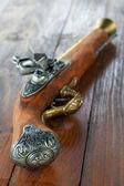Model antique gun — Stock Photo
