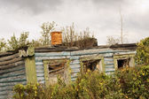 The ruins of the old wooden house — Stock Photo