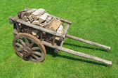 The cart of firewood — Stock Photo