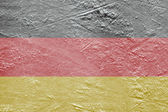 German flag on the ice — Stock Photo