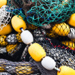 Fishing nets and floats — Stock Photo