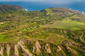 Green landscape of Molokai — Stock Photo