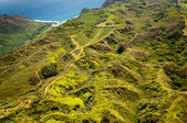 Green hills of Molokai island — Stock Photo
