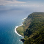 Molokai island coastline view from above — Stock Photo