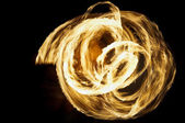 Hawaiian fire dance — Stock Photo