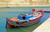 Boat near fort of Bizerte, Tunisia — Stock Photo