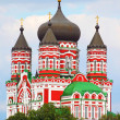 Orthodox cathedral in Feofaniya, Kiev, Ukraine - Stock Photo