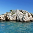 Stone formation near Kekova island, Turkey — Stock Photo