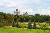 Orthodox cathedral in Feofaniya and park, Kiev, Ukraine — Stock Photo