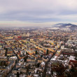 View of Salzburg from Kapuzinerberg in the morning, Austria — Stockfoto
