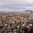View of Salzburg from Kapuzinerberg in the morning, Austria - Stock Photo
