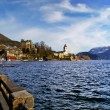 Village St Wolfgang on the lake Wolfgangsee at winter - Salzburg — Stock Photo
