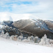 Scenic landscape in mountain and snow — Stock Photo