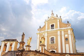 Catholic cathedral in Kamjanets-Podolsk — Stock Photo