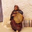Stock Photo: Tunisiwomplays drum