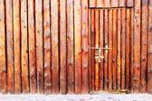 Wooden door and wall — Stock Photo