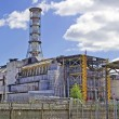 Stock Photo: Chernobyl Nuclear Power Plant on the river Pripyat