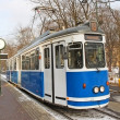 Old tram in Krakow — Foto Stock