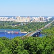 Stock Photo: View of Left Bank of Dnieper in Kiev, Ukraine