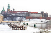 Wawel castle in the winter, Krakow — Stock Photo