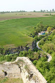 Ditch across fort in Kamjanets-Podolsk — Stock Photo