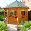 Gazebo in the park - Stock Photo