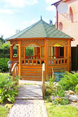 Gazebo in the park — Stock Photo