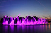 Biggest fountain on the river was opened in Vinnitsa — Stock Photo