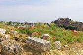 Hierapolis antik şehir bahar zamanı, türkiye'nin kalıntıları — Stok fotoğraf