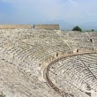 Stock Photo: Ancient amphitheater near Pamukkale in Hierapolis, Turkey
