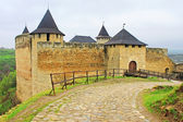 View of Khotyn fortress, Western Ukraine (XIII century) — Stock Photo