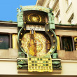 Ankeruhr (Anker clock) in Vienna (Austria) built by Franz von Ma - Stock Photo