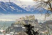 City and castle Hohensalzburg - Salzburg, Austria — Stock Photo