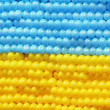 Flag of Ukraine composed with balloons — Stock Photo