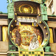 Ankeruhr (Anker clock), famous astronomical clock in Vienna (Austria) built by Franz von Matsch — Stock Photo #21680865