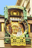Ankeruhr (Anker clock), famous astronomical clock in Vienna (Austria) built by Franz von Matsch — Stock Photo