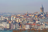 View of Istanbul with Galata Tower, Turkey — Stock Photo
