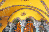 Inside the Hagia Sophia mosque in sultanahmet, Istanbul, Turkey — Foto de Stock