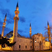 Suleymaniye Mosque night view, the largest in the city, Istanbul — Stock Photo